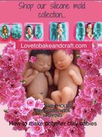 Baby molds, Polymer clay baby, Fimo  baby, Sculpey baby molds, 4 moulds, Free worldwide shipping (1)